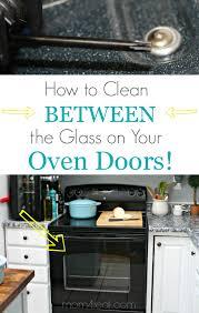 how to clean an oven door in between
