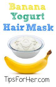 banana yogurt hair mask