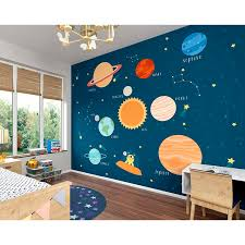 Zoomie Kids Klar Outer Space 9 8 L X 94 W 6 Panel Wall Mural Reviews Wayfair