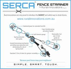 Serca Wire Fence Strainer Fencefast Ltd