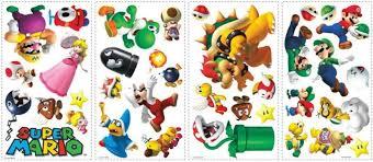 Super Mario 35 Pc Peel Stick Nintendo Room Decor