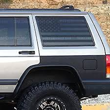 Amazon Com Skull Daddy Graphics Xj Window Flags To Fit Jeep Cherokee 1987 2001 Xj Window Flags Both Sides Automotive