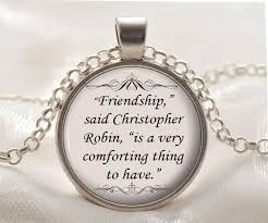 necklace silver friendship jewelry gift