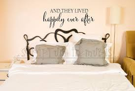 And They Lived Happily Ever After Bedroom Or Wedding Vinyl Decal Bedroom Wall Decor Black Headboard Romantic Wall Decal Gal Wall Decals Home Vinyl Lettering