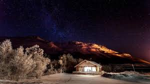winter nature snow night sky