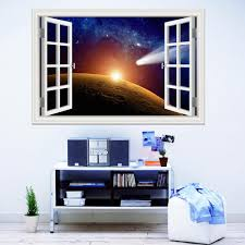 3d Window View Planet Galaxy Wall Sticker Removable Outer Space Wall Decals Stickers Home Decor Living Room Wallpapers Wall Art Create Wall Stickers Custom Vinyl Wall Decals From Asenart 10 26 Dhgate Com