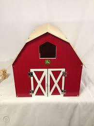 john deere wooden big red barn