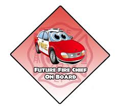 Future Fire Chief On Board Window Decal Police Fire Ems Viny Graphics Stickers Decals Dkedecals