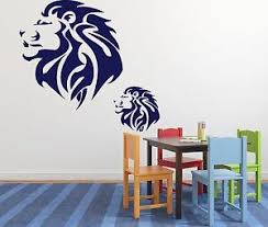 Wall Stickers Vinyl Decal Lion King Of Beasts Brave Huge Mane N202 Ebay