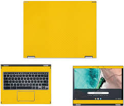 Amazon Com Decalrus Protective Decal For Acer Chromebook Spin 13 Cp713 13 5 Screen Laptop Yellow Carbon Fiber Skin Skins Decal Wrap Cfacerchrobook Spin Cp713yellow Electronics