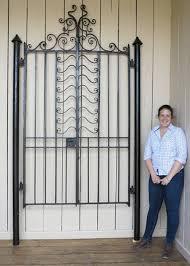 Victorian Wrought Iron Pedestrian Gates Posts