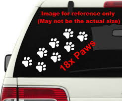 18x Pet Paw Prints Cat Dog Choose Color Size Vinyl Stickers Decals A1348 Myfriendsdentist Com