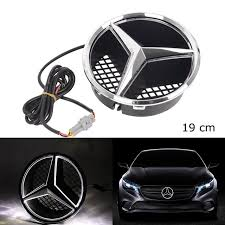 Buy Mercedes Benz Grill Star Led Light Logo Emblem Badge Emblem Size 19 Cm 7 48 Inch Snap In High Quality Trusted Automotive Car Spare Parts And Accessories Cool Gadgets Badges Logo From Benz Audi
