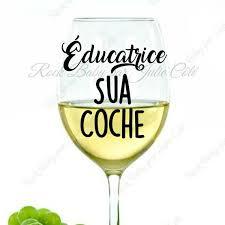 Decal To Mug Teacher Sua Tick Wine Glass Wine Cup Decal Etsy