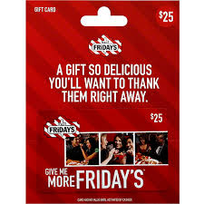 tgi fridays gift card 25 fishers foods