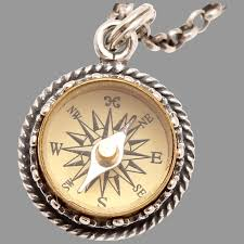 compass necklace sterling silver