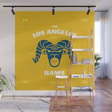 La Rams Are Back Wall Mural By Brianlindstrom Society6