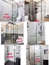 glass shower screen tempered black