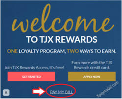 tjx credit card pay bill by