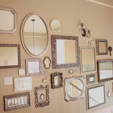 wall i like the iea of silver frames