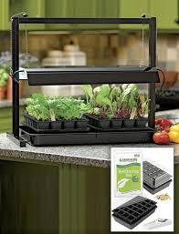 compact tabletop garden starter grow