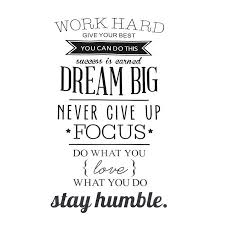 Work Hard Dream Big Quote Wall Sticker Office Inspirational Decal Removable Pvc Wall Stickers Aliexpress