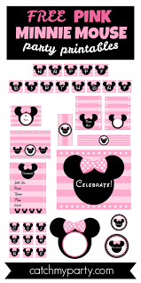free pink minnie mouse party printables