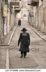 Ebrei ortodossi, camminare, in, il, mea, sharim, zona, di, gerusalemme,  israele Archivio fotografico | yr2-1418086 | Fotosearch
