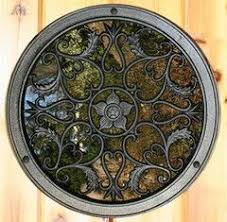 Circle Wooden Gate Decorative Accessory Wooden Gates Gate Decoration Decorative Accessories