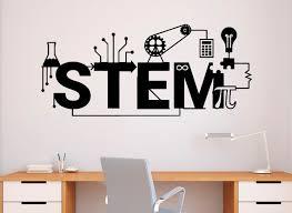 Stem Wall Decal Vinyl Sticker Science Technology Art Design School Classroom Interior 64nr In 2020 Vinyl Wall Decals Classroom Walls Interior
