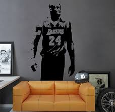 Ik2931 Wall Decal Sticker Lakers Kobe Bryant Sports Hall Bedroom Sports Wall Decals Wall Decal Sticker Wall Decals
