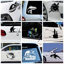 Hot Offer 43975 10 Styles Mad Fish And Fishing Funny Decal Car Window Decoration Vinyl Stickers Motorcycle Accessories Cicig Co