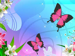 pastel flowers erflies wallpapers