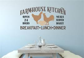 Farmhouse Kitchen Chicken Decor Vinyl Decal Wall Stickers Letters Words