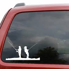 Yjzt 15cm 8 4cm Man Women Fishing Scene Funny Vinyl High Quality Decor Decals Car Sticker Black Silver C11 0184 Car Stickers Aliexpress
