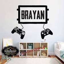 Amazon Com Bestickershop Gamer Wall Decal Eat Sleep Game Controller Video Game Wall Decals Customized For Kids Bedroom Vinyl Wall Art Decals 1858re Home Kitchen