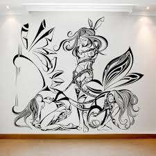 Women Elves Illustration On The Wall Best Deals With Free Uk Standard Delivery Mizzli