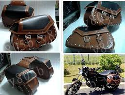 motorcycle leather side bag saddle bags