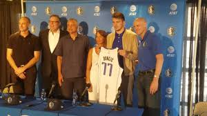 Luka Doncic introduced by Dallas Mavericks along with his mom ...