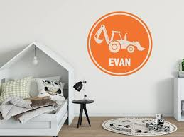 Name Wall Decal Construction Wall Decals Boys Room Wall Etsy