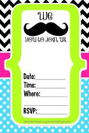 Free Mustache Birthday Party Printables Mysunwillshine Com