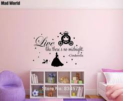 Live Like There S No Midnight Cinderella Quote Wall Art Stickers Wall Decals Home Decoration Removable Room Decor Wall Stickers Wall Stickers Aliexpress