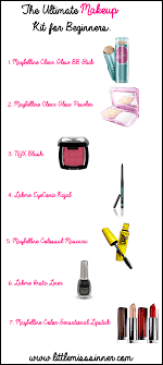 makeup list to for beginners saubhaya