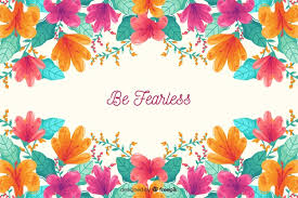 floral nature background quote vector