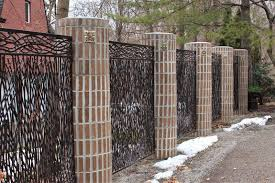 Contemporary Metal Fencing Great Lakes Metal Fabrication