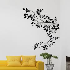 The Tree Branch Leaves Design Wall Decal Vinyl Home Decor Living Room Bedroom Window Murals Simple Stickers Unique Gift Ea463 Wall Stickers Aliexpress