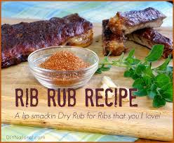 dry rub for ribs homemade rib rub