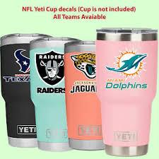Nfl Yeti Cup Decal Sticker For Yeti Rambler Tumbler Cup Mug Wine Glass Cooler Ebay