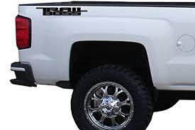 Amazon Com 2 X Black Dark Grey Gloss Trail Boss Vinyl Decal For Truck Bed Automotive