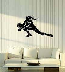 Amazon Com Vinyl Wall Decal Volleyball Player Teen Girl Sports Art Room Decoration Stickers Mural Large Decor Ig5498 Home Kitchen